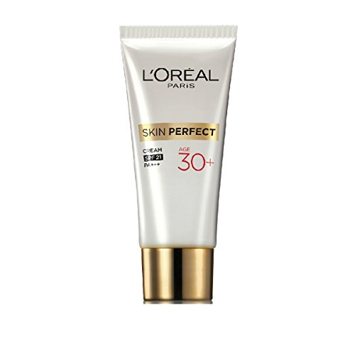 L'oreal Skin Perfect Anti-fine Lines + Whitening 30+ Cream Fights First Sign of Aging SPF 21 Pa+++ Size : - 18g