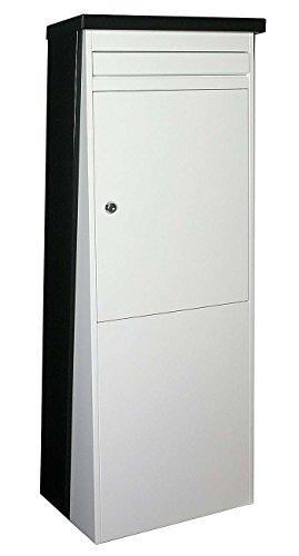 SafePost Eurotrend No.1 großer Standbriefkasten schwarz weiss 100 x 35,5 cm Briefkasten 901110