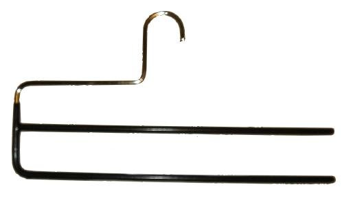 Hagspiel - Gruccia in metallo per 2 pantaloni, 4 pezzi.