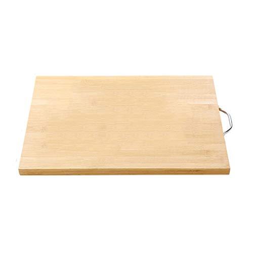 xinxinchaoshi Tabla de Corte para Cocina Inicio Lisa y Plana de bambú Tabla de Cortar orgánica Natural con Asas for Picar Juntas de Verduras, Carne y Queso Tabla de Cortar (Size : D)