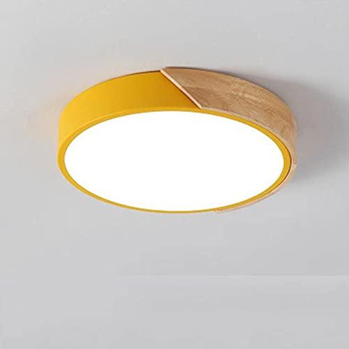 MODEBHD Luces De Techo Empotradas Regulables De 36 W, Lámpara De Techo LED De Montaje Empotrado, Lámpara De Techo De Madera, Luz De Techo Para Sala De Estar, Dormitorio,...