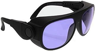 عینک کاری Ace Didymium Glass در قاب ایمنی پلاستیک بزرگ با بازوهای جانبی قابل تنظیم