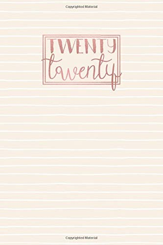 2020: A5 Diary Week on 2 Pages to View WO2P Journal | Horizontal Weekly Planner | Cream & White Lines Stripes with Rose Gold Lettering (2020 Weekly Diaries, Band 123)