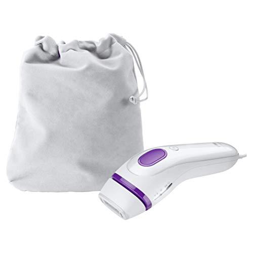 Braun Silk-expert 3 IPL BD 3005 - Kit con depiladora de luz pulsada y funda, color blanco y violeta