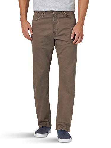 Wrangler Authentics Men's Authentics Straight Fit Twill Pant, Major Brown, 38W x 32L