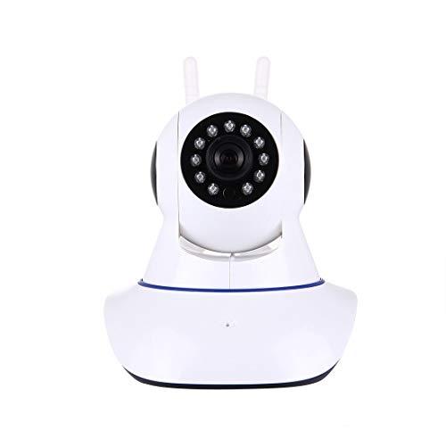 Paulclub Smart Home Security WiFi Cámara de Alarma IP - HD 360 Grados Rotación PTZ Detección de Movimiento Visión Nocturna Visión en línea remota, Soporte TF TF y teléfono móvil Remoto y Android/iOS