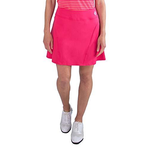 Jofit Apparel Women's Athletic Clothing Short Paneled Skort for Golf & Tennis, Size Medium, Hibiscus