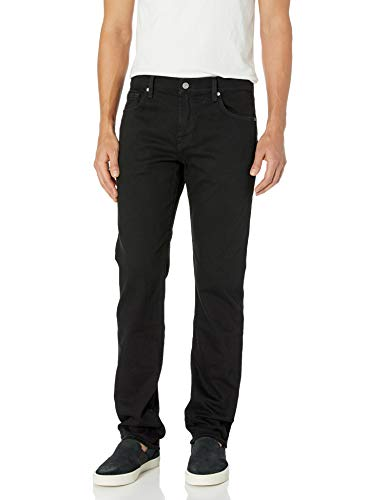 7 For All Mankind Herren Mens Straight Leg Pant Jeans, Standard: Zeitloses Schwarz, 32W / 34L