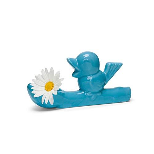 Jasmin Djerzic Flower Thief-Blue kleine vaas, keramiek, 7,5 x 14 x 3,5 cm