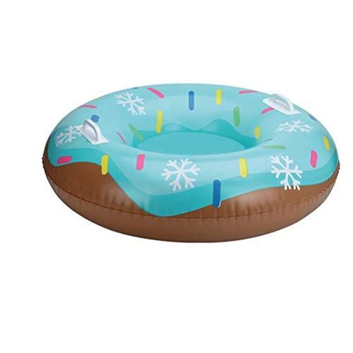 Hbao Snowboard Kindergeschenk niedliche Donuts mit Griffschlitten Winter Winter Outdoor Sport Snowboard Snow Tube Gras Sand Snowboard Reifen