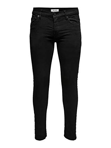 ONLY & SONS Herren Slim Fit Jeans ONSLoom Black 3432Black Denim