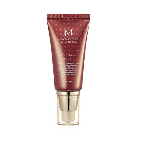 Base Facial Missha Perfect Cover BB Cream SPF 42 21 Light Beige