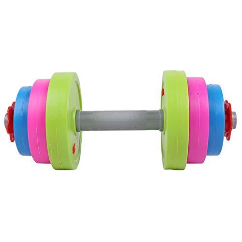 NAKELUCY Fun Color Kinder Hanteln Spielzeug, Workout Arm Muskelgewicht Hantel Verstellbare Kunststoff gefüllt Wasser und Sand Hanteln Home Fitnessgeräte für Kinder