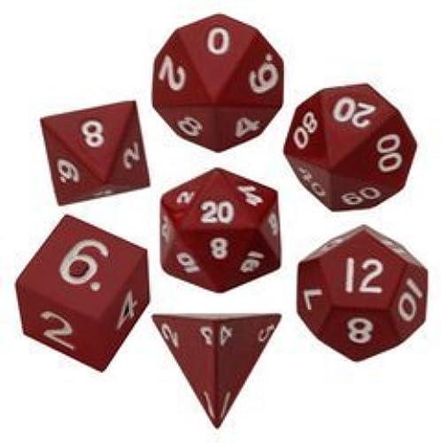 Metal Dice 7-Die Polyhedral Set  16mm Painted - rot (7) by Metallic Dice Games