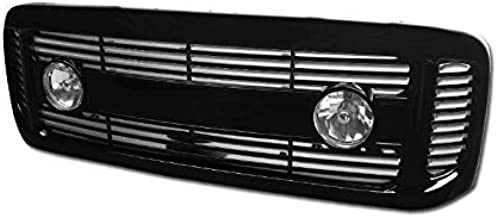 Brightt (I3-BWZ-XZF) Compatible with 99-04 F250/350 Superduty/Excursion Horizontal Style Front Grill W/Fog Lgihts & Switch (Black)