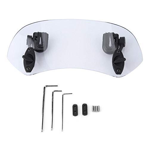 Windschutzscheibe, Universal verstellbares Motorrad modifizierte Windschutzscheibe Spoiler Air Deflector (Transparent)