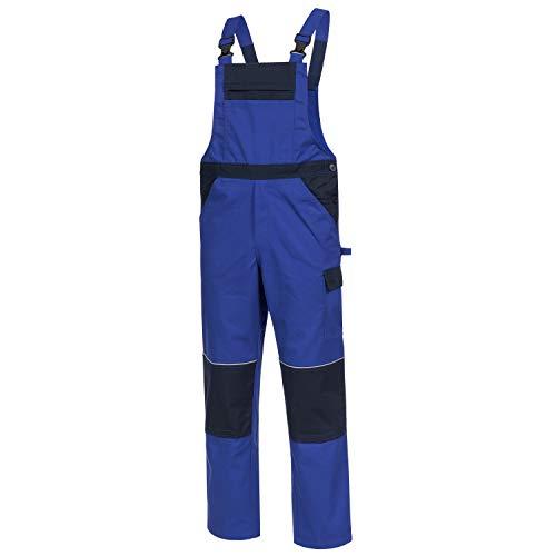 Nitras Motion TEX Light Latzhose - Arbeitshosen für Herren & Damen - Arbeitskleidung Bundhose Schutzhose Arbeitshose -Blau Gr. 52
