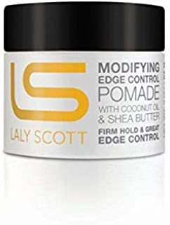Modifying Edge Control Pomade with Coconut Oil & Shea Butter - LALYSCOTT 2oz. - Firm Hold & Great Edge Control | Non-Greasy, No Flaking or Stiffness
