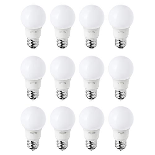 IKEA RYET E27/ES LED-Leuchtmittel, 400 lm, Warmweiß, 12 Stück