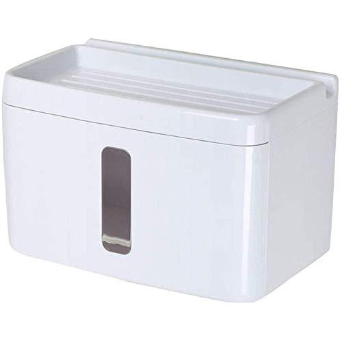 ZHANG Caja Organizadora De Inodoro Impermeable Sin Perforaciones Organizador De Baño A Prueba De Polvo Estantes De Almacenamiento De Papel Higiénico Soporte De Rollo
