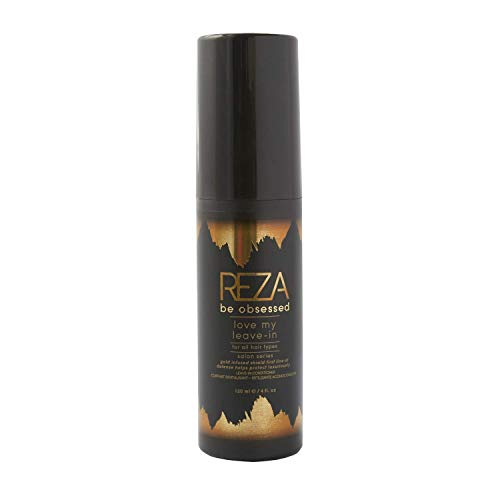 Reza Love My Leave-In Conditioner: Luxury Conditioning Hair Spray, Detangler, UV Protection, Sulfate Free, Paraben Free, Non Toxic, for Women & Men & All Hair Types, 4 Fl. Oz.
