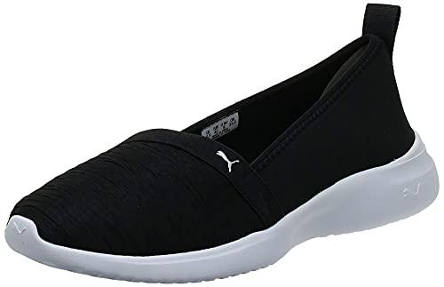 Puma Adelina SoftFoam+ Women's Ballet Shoes Black Silver Sneaker-7 UK (36962101)