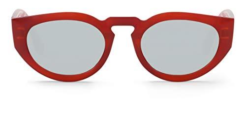 Mr Boho PSIRI Montures de Lunettes, Rouge (Volcano/Silver Lenses), 48 Mixte Adulte
