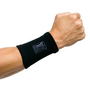 1 Nikken Medium Wrist Sleeve 1825 - Black, Thin, Far Infrared, Carpal Tunnel Tendonitis Sleeping Typing Injury Pain Relief & Recovery, Weightlifting , Boxing, Brace, Wrap, Compression, Support