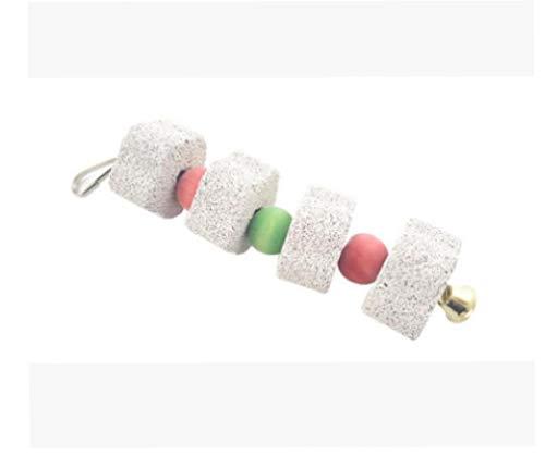1pc Bird Chew Toy Molienda Bite Juguete Colorido Dientes Molares Piedra Juguetes Loros Fuentes Herramientas Convenientes