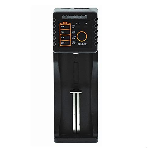 ZRNG LII-PD4 LII-PL4 LII-S2 LII-S4 LII-402 LII-202 LII-100 Cargador de batería Ajuste para 18650 26650 21700 Batería de Litio NiMH (Color : 1 Slot)