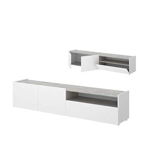 Mueble Tv de 200 cm blanco