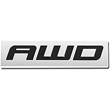 2xMetal Chrome AWD Letters Badge Trunk Fender Silver Car Emblem Sticker Decal