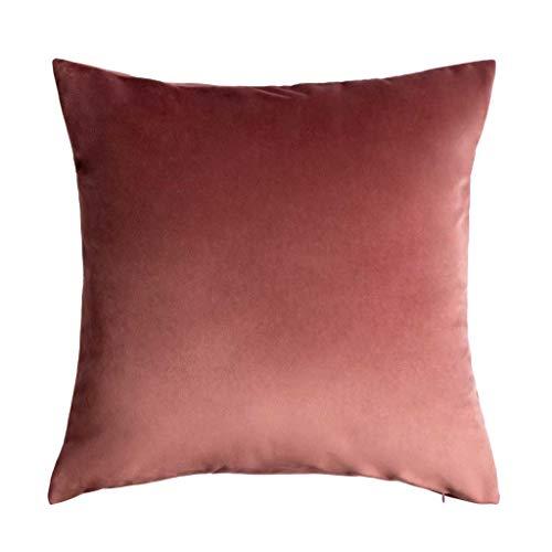 Funda cojín Velvet, 100% poliéster, Color Rosa, Nude, Maquillaje, 45x45x5 cm.