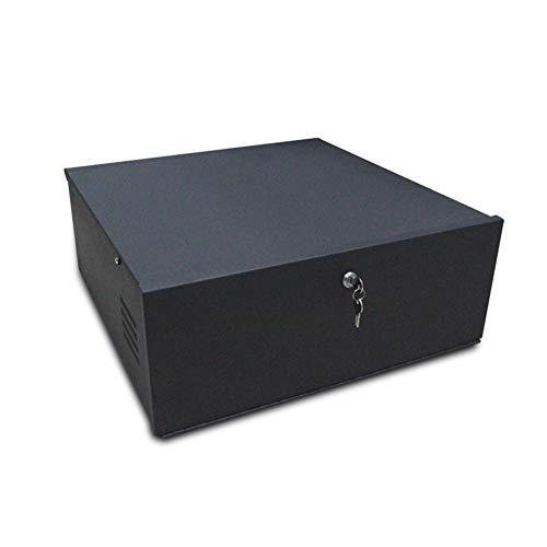 15 x 15 x 5 Inches DVR/NVR Lockbox, Security Lockbox Enclosure Heavy Duty 16 Gauge with AC Fan, Wall or Floor Mount
