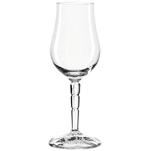 Leonardo Spiritii Tasting-Gläser, Schnaps-Gläser mit Stiel im Facettenschliff, spülmaschinenfeste Whiskey-Gläser, 6er Set, 190 ml, 022750