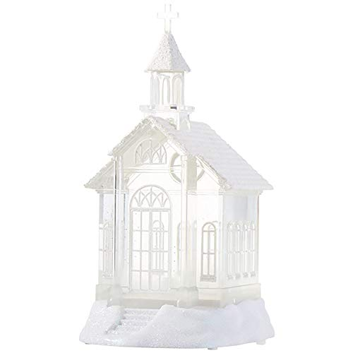RAZ Imports 07956-10.5' Battery Operated Church Water Filled Lantern (Batteries not Included) (10.5' LIGHTED CHURCH WATER LANTERN (3919039))