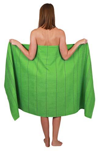 Betz Badetuch XXL Strandtuch Lines 100% Baumwolle Größe 90 x 180 cm Farbe grün