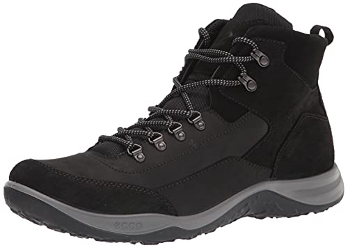 ECCO Men's Esphino High Boot Waterproof Hiking Shoe, Black, 11-11.5