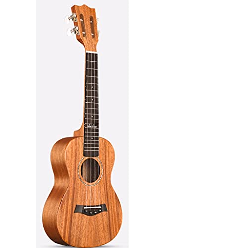 Ukuleles Concert Hawaiian Guitar with Ukelele Bag and APP Tuner 4 String Starter Kit with Strap,Capo,and Durable Bag Et (Color : Wood, Size : 23inch)