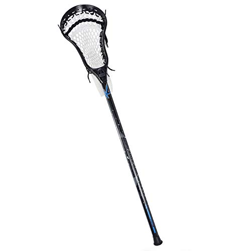 CAKLOR Lacrosse Complete Attack/Midfield Stick with Shaft & Head Mens-1 Stick,Black and White Soft net…