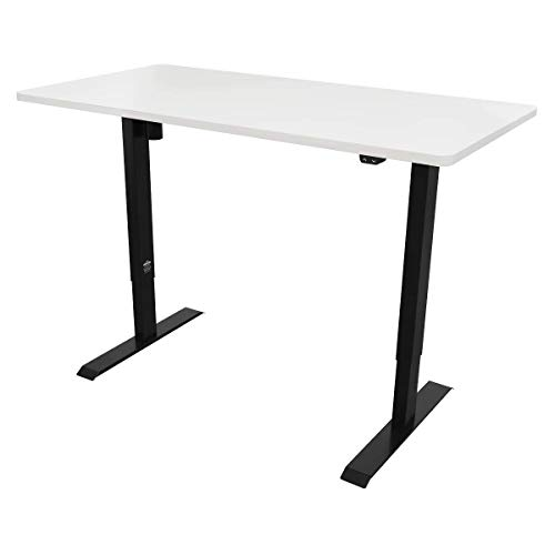 Dellonda Single Motor Height-Adjustable Electric Sit & Stand Desk with White Desktop