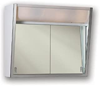 Jensen 323LP Specialty Flair Stainless Steel Trim, White Finish-Surface Mount Mounting