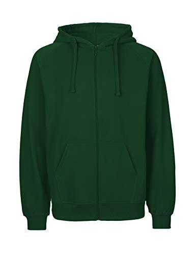 Green Cat Herren Kapuzenjacke, 100% Bio-Baumwolle. Fairtrade, Oeko-Tex und Ecolabel Zertifiziert, Textilfarbe: flaschengrün, Gr.: XL