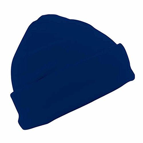 MYRTLE BEACH - bonnet polaire style marin large revers - MB7720 - coloris bleu marine - mixte homme/femme