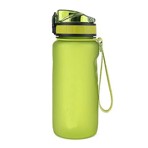 Sport-Trinkflasche 650 ml PP Tragbar für Radfahren, Radfahren, Camping, Wandern, Höhlenreisen, Schwarz Grün Blau Pink Grün