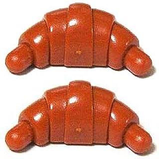 LEGOブロック・純正パーツ<フード&ドリンク>クロワッサン (2個, Dark Orange) [並行輸入品]