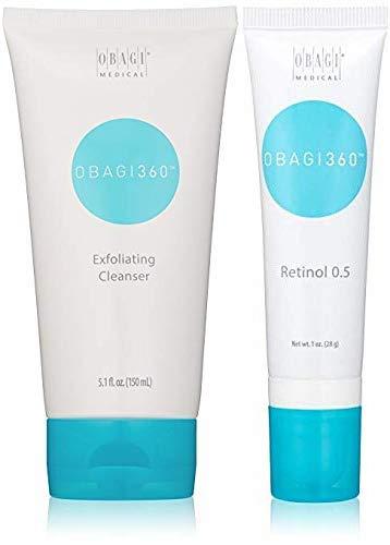 Obagi360 Exfoliating Cleanser And Obagi Medical 360 Retinol 0.5.