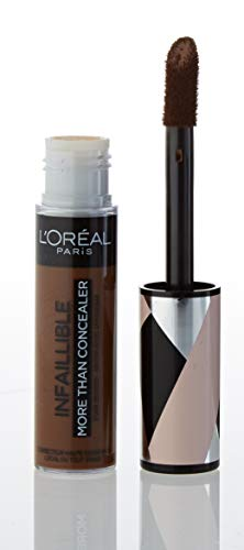 L'Oréal Paris Infaillible More Than Concealer Nr. 343 Truffle, hochpigmentierter Concealer mit hoher Deckkraft und extra großem Applikator, 11 ml