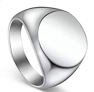 Unisex Ring Silver Plated Round size 11
