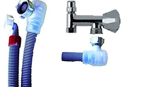 Aquastop Schlauch/Aquastop/Sicherheitszulaufschlauch für Waschmaschine und Geschirrspüler 2,5m + NEU Platzsparend waagerechte Montage